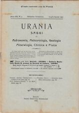 Urania, rivista, 1923, anno XII n. 4, astronomia, mineralogia, chimica, fisica