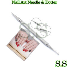 Nail Art Dotting Tool NEEDLE & DOTTER Double Ended Manicure NAIL Paint BTS-218