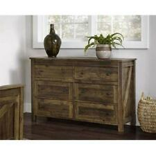 Dresser Barn Weathered Pine Rustic Farmhouse Table Console Storage Chest Drawers