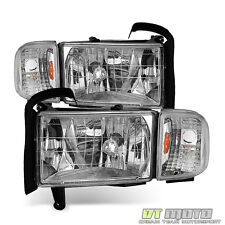 Replacement 1994-2001 Dodge Ram 1500 2500 3500 Headlights w/ Corner Lights Lamps