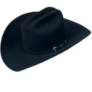 NEW in Box Serratelli Cowboy Hat Company Size 7 5/8 Texan III Black