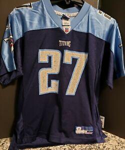Tennessee Titans #27 Eddie George Jersey Youth Large Reebok Blue NFL
