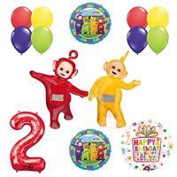 Teletubbies 2nd birthday LAA-LAA & PO Balloon Birthday Party  supplies