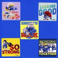 10 Smurfs The Lost Village - Large Stickers - Smurfette, Papa Smurf, Hefty