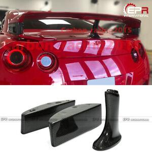 For Nissan GTR R35 Carbon Fiber Rear Spoiler Raise Lifter Block Stents Kits