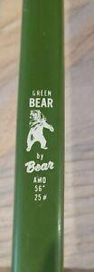 Vintage Green Bear Fiberglass Recurve Bow Bear Archery AMO 56 inch 25 Pound Draw