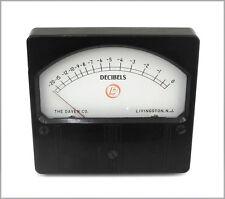 Vintage Daven DC Gain Reduction VU Meter, Full Scale = 0 VU, w/Small Crack. ME