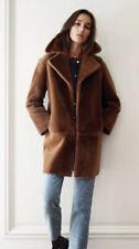 CLAUDIE PIERLOT Camel Fancy Bis Sheepskin Shearling Coat-36-UK8-RRP£1525-L@@K!