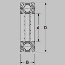 CUSCINETTI a sfere assiale/stampa magazzino f5-12m 5x12x4, 5x12x4, f5-12m 5x12x4