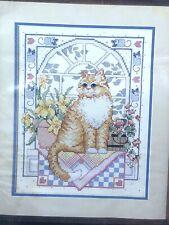 Vintage 1998 Dimensions Cross Stitch Kit Cat On Window Seat 14� Unopened