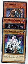 Pitch-Black WarWolf + T.G.Warwolf  +Gene-Warped Warwol YS16 Set 1st mint  Yugioh