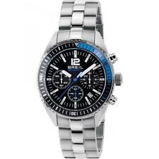 Orologio Uomo BREIL MIDWAY TW1633 Chrono Bracciale Acciaio Nero Blu 100mt