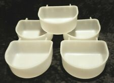 5 Hanging Feed / Water Bowls for Cages ~ Large, Plastic