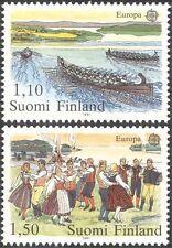 Finlandia 1981 EUROPA/Festival/Ballo/Danza/Canottaggio/Barche/PEOPLE 2 V Set (s333d)