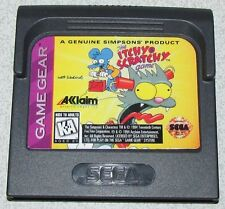 The Itchy & Scratchy Game for Sega Game Gear Fast Shipping!