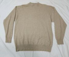 BULLOCK & JONES Scotland 100% Cashmere Mens Tan Brown Pullover Sweater Medium