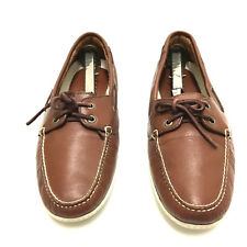 LL Bean Freeport Maine USA Made Womens 11 Vintage Leather Moccasins Boat Shoes
