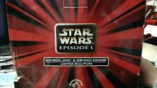 STAR WARS EPISODE 1 QUI-GON JINN OBI WAN KENOBI JEDI STATUE LIGHTED SCULPTURE