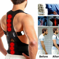 Posture Corrector Adjustable Support Correction Back Lumbar Shoulder Brace Belt