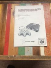 NINTENDO 64 Console Instruction Booklet N64