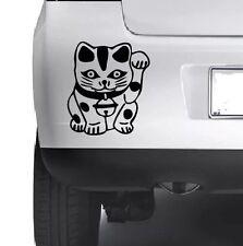 Japanishe Lucky Cat VINYL STICKER Car Bumper Van Window Wall Laptop Xbox  DECALS