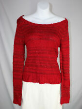 New Heart N Crush Bloody Mary Red Sequin Off-Shoulder Sweater - size XL Juniors