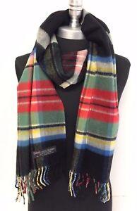 NEW Mens Womens Winter Warm SCOTLAND Made 100% CASHMERE Scarf Wraps Plaid Wool