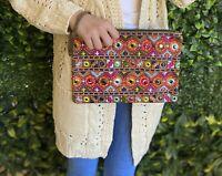 "Boho tribal ""The Camilla"" purse clutch iPad bag"