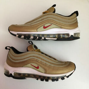 Authentic Nike Air Max 97 Mens Gold Trainers Size 5 Eur 38