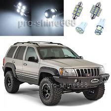 12PCS White Interior LED Light Bulbs Package Kit for 98-04 Jeep Grand Cherokee
