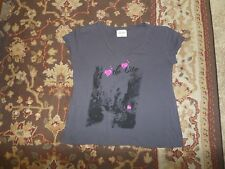 LAVISH SPORT WOMEN'S GRAY V NECK T SHIRT SIZE 1XL THE CITY HEARTS