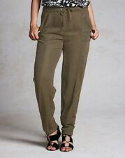 Simply Label Be Lyocell Cuffed Trousers Size 12 Regular BNWT RRP £38.50 Khaki
