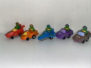 Vintage c1990 Teenage Mutant Ninja Turtles Mobil Oil Promo Cars X 5. Free Post