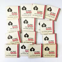 Del Webb's Sahara Hotel & Casino Matchbook Covers Lot of 15 Vintage