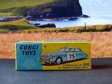 Corgi Toys 323 Citroen DS19 excellent avec boîte d'origine