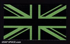 AUTHENTIC -UNION JACK- IR INFRARED REFLECTIVE GREEN BRITISH FLAG MILITARY PATCH