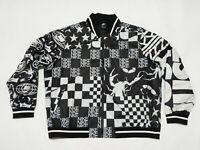 New Men's Nike Sportswear Scorpion Full Zip Jacket Black White AR1632-133 Sz 3XL