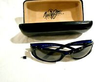 Maui Jim Shaka Sunglasses Model 105-01 Blue Frames, Iridium lens-Original Case