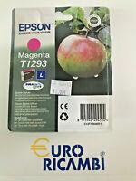 Cartuccia EPSON T1293 MELA MAGENTA ORIGINALE C13T12934011 Fattura & Scontrino