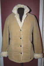 Abercrombie & Fitch cotton velvet coat with faux fur lining womens size MEDIUM