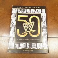 The History of WWE: 50 Years of Sports Entertainment FAST SHIPPING