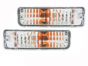 Crystal Clear Front Bar Indicator Lights suits Toyota Hilux 88-97  Surf 4Runner