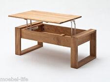 VICY Couchtisch Wohnzimmertisch Tisch 110x60 Eiche massiv Massivholztisch
