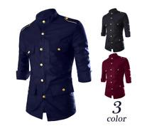 NEW Fashion Mens Luxury Short sleeve Shirt Casual Slim Fit Stylish Shirts Tops