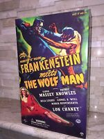 FRANKENSTEIN MEETS THE WOLF MAN SIDESHOW ACTION FIGURE