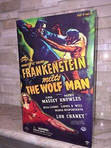 FRANKENSTEIN MEETS THE WOLF MAN SIDESHOW ACTION FIGURE