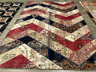 HANDMADE WOOL RUG 7x10 ANTIQUE HAND-KNOTTED vintage PATCHWORK carpet 6x9 8x10 ft