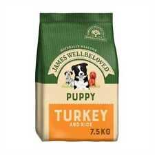 JAMES WELLBELOVED DRY PUPPY FOOD TURKEY/LAMB/FISH/DUCK 7.5KG SIZE - GREAT PRICE!