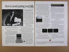 1985 Apple II Computer printer modem Alan Greenspan photo vintage print Ad