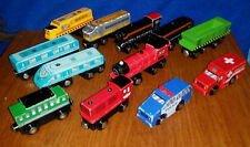 Thomas & Friends WOODEN RAILWAY Battat Train Lot Engines Cars 12 Compatible Brio